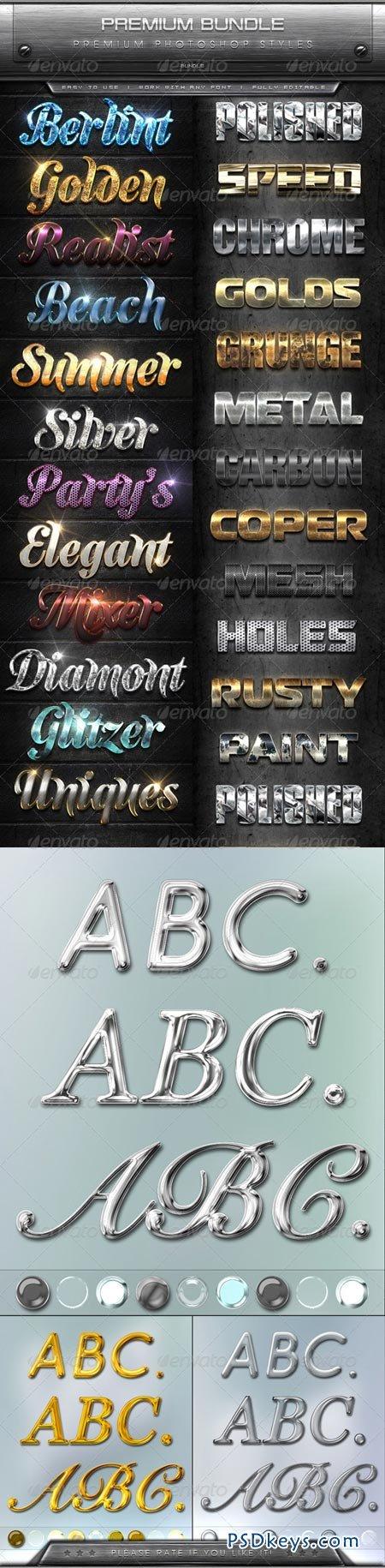 Premium Text Effects Styles Bundle 8660933