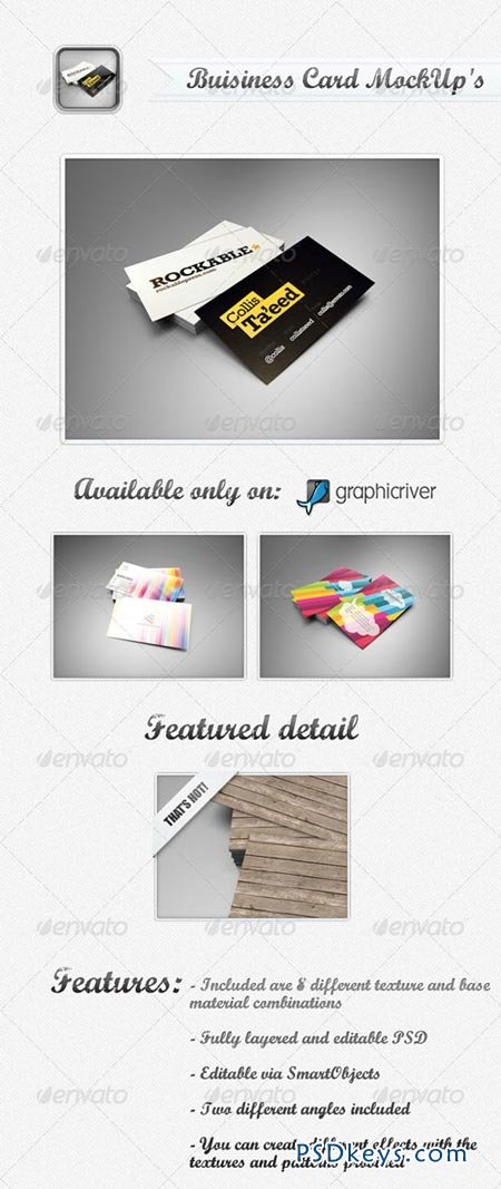 Business Card MockUp's 237496