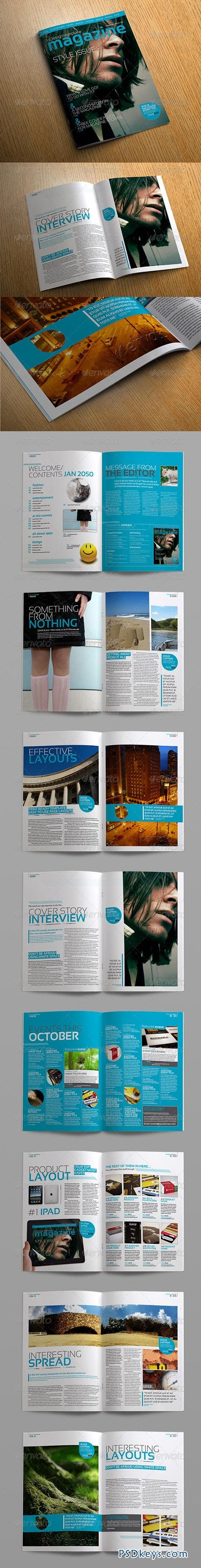 Stylish InDesign Magazine Template 264182 » Free Download Photoshop ...