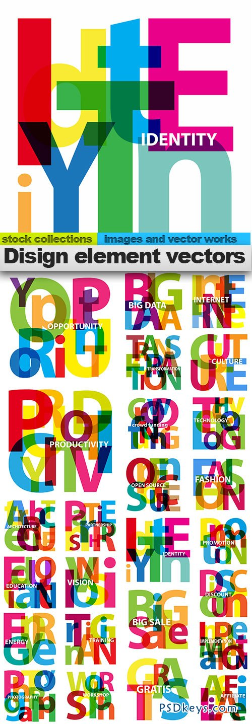 Design element vectors 25xEPS