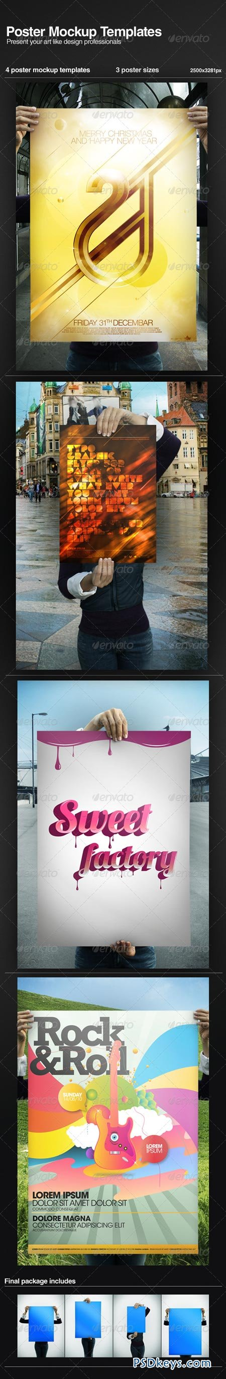 Poster Mock-up Templates 151546