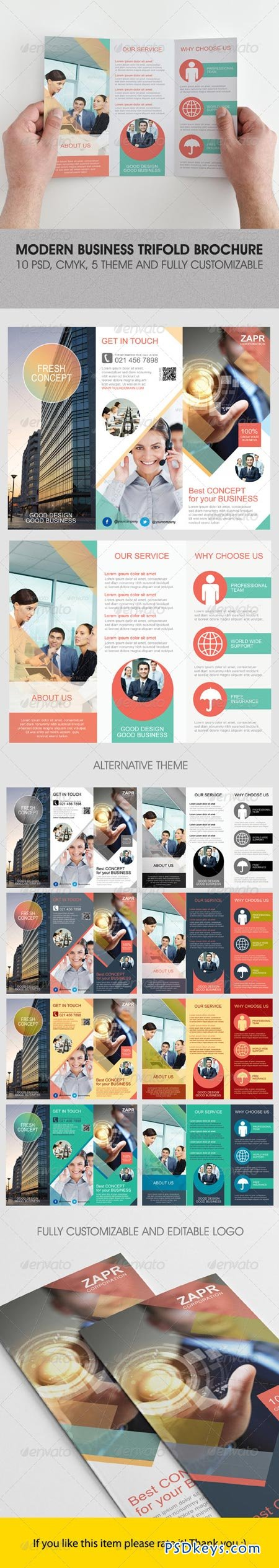 Modern Business Trifold Brochure 4823364