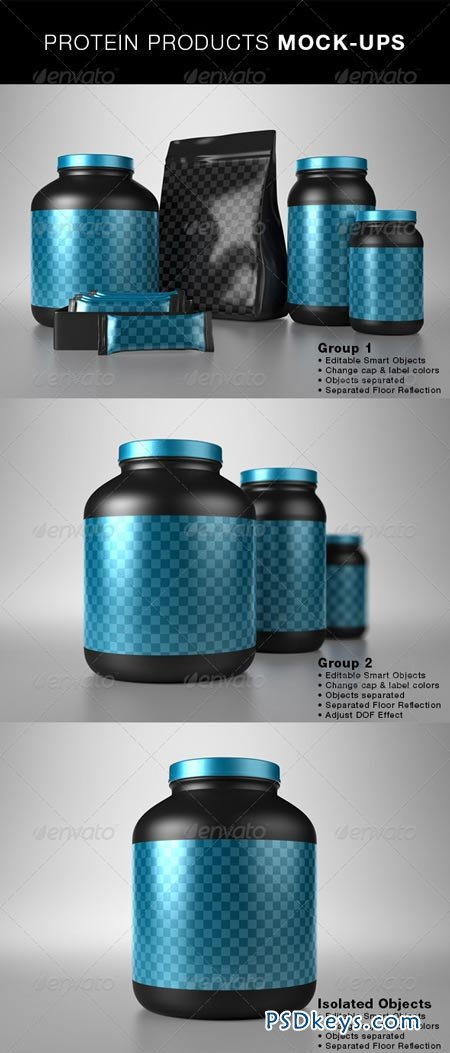 Protein Products Mock-Ups 5047879
