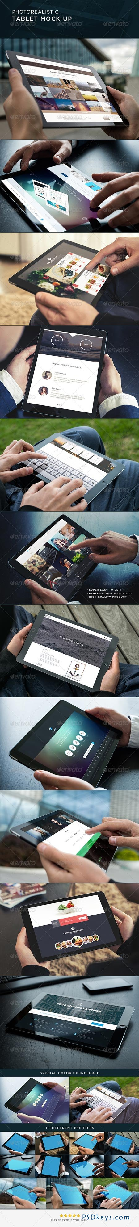 Photorealistic Tablet Mock-Up 8765380