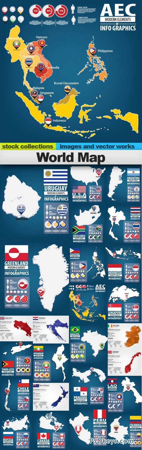 World map 25xeps free download photoshop vector stock image via world map 25xeps gumiabroncs Images