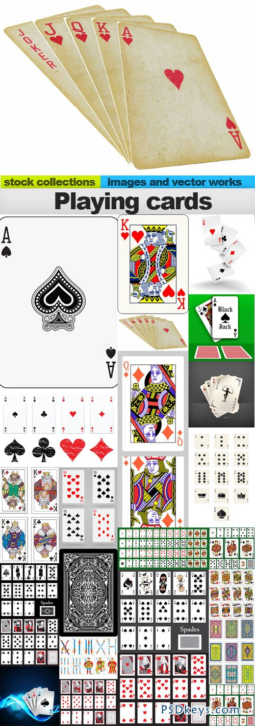 Playing cards 25xEPS