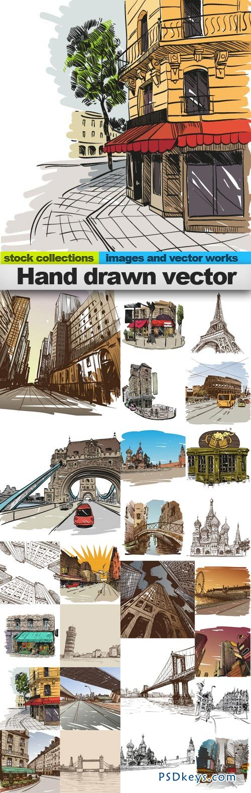 Hand drawn vector 25xEPS