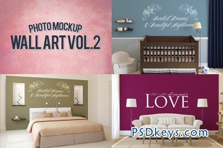 Wall Art Photo Mockups Volume 2 48633 Free Download Photoshop