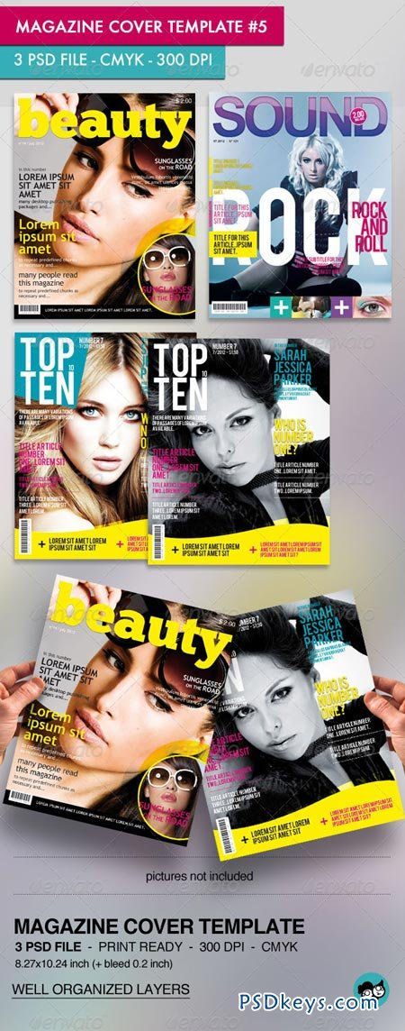 Magazine Cover Template Free Download Magazine Cover Template Pack