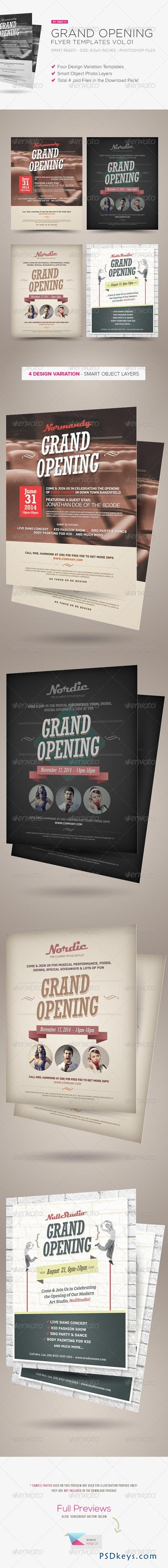 Grand Opening Flyers Vol.01 5450979