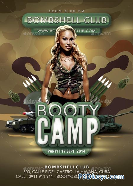 Bombshell Booty Camp Themed Army Party 8932633