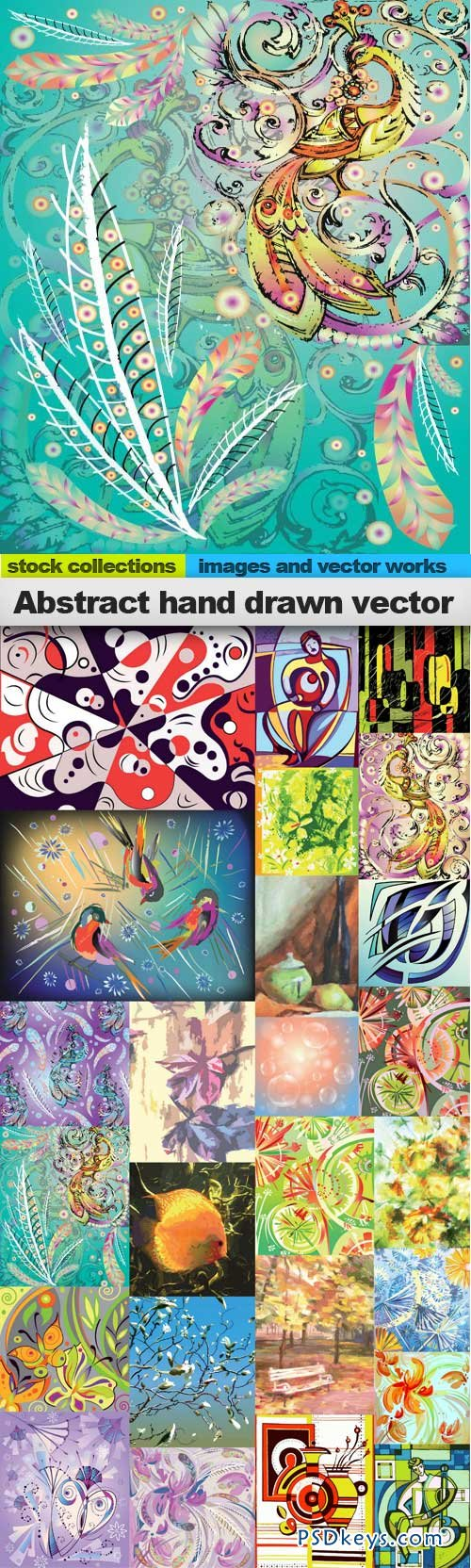 Abstract hand drawn vectors 25xEPS