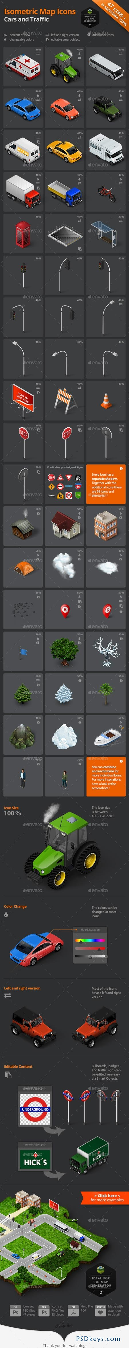 Graphicriver Isometric Map Icons