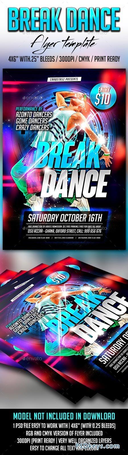 Break Dance Flyer Template 8941633 Free Download Photoshop Vector