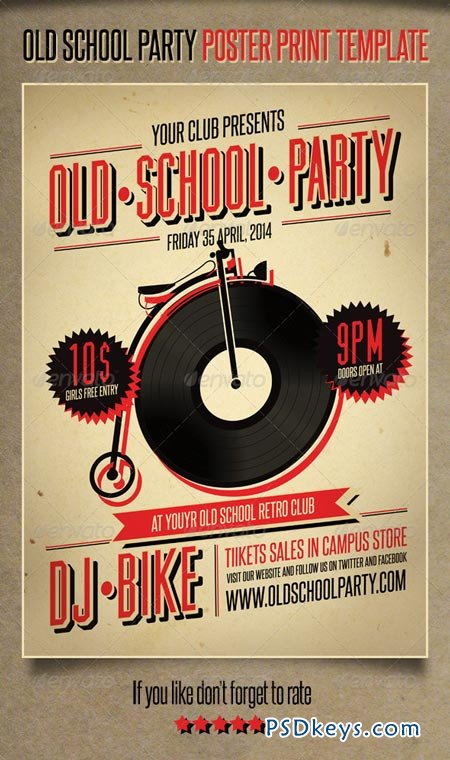 Old School Party Poster 3949973