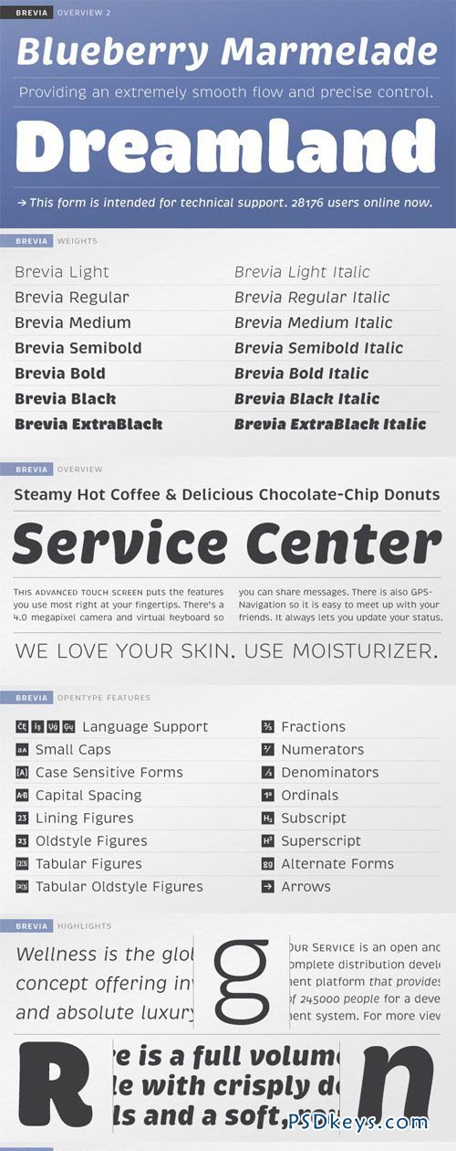 Brevia Font Family - 14 Fonts for $300