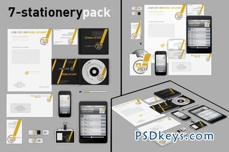 Stationery pack mock up 47676