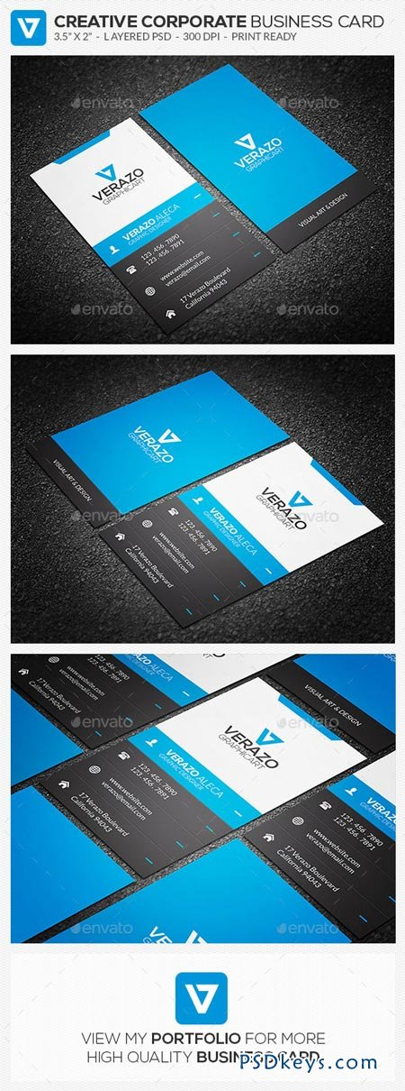 Creative Corporate Business Card 61 8950838