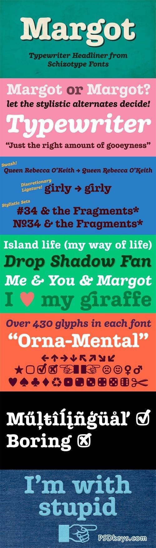 Margot Font Family - 2 Fonts for $50