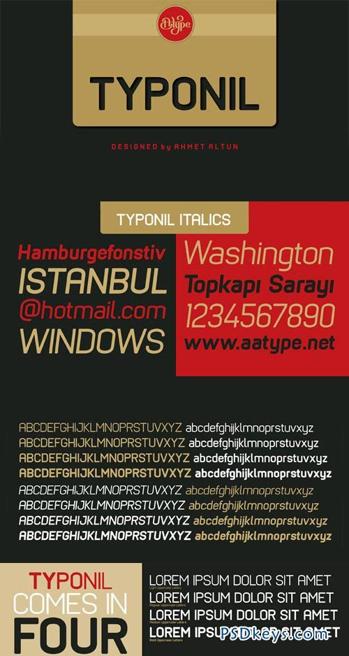 Typonil Font Family - 8 Fonts for $130