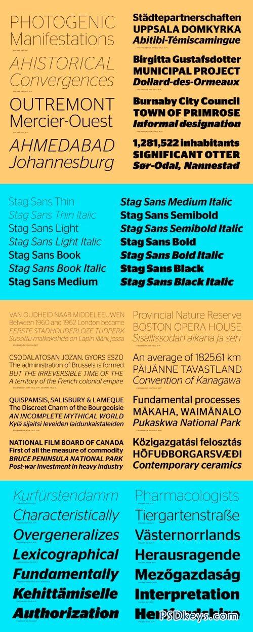 Stag Sans Font Family - 14 Fonts for $350
