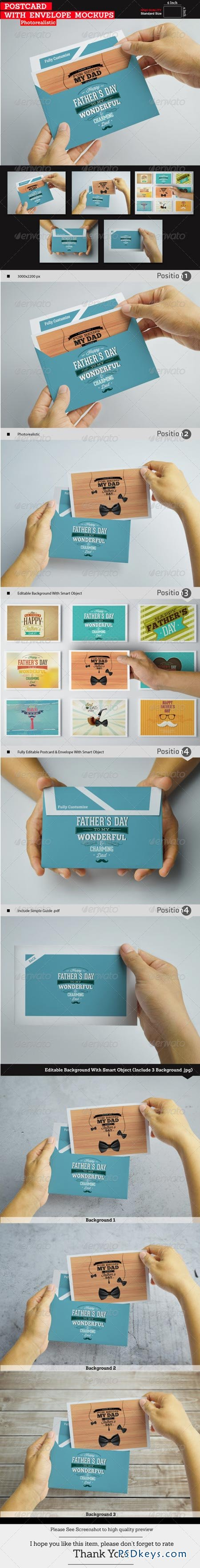 Postcard With Envelope Mockups 8370998