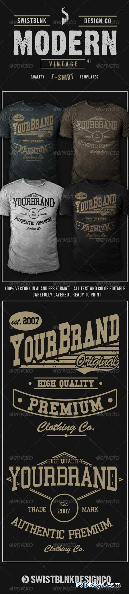 Modern Vintage T-Shirt 01 6594379