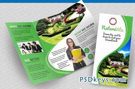 Multifunctional 3-fold Brochures 8329
