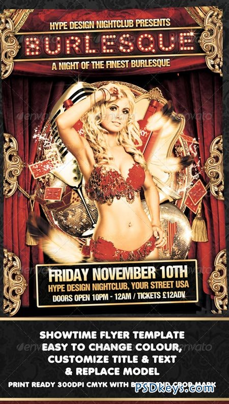 Burlesque Flyer Template 788568