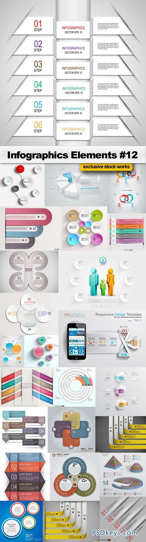 Infographics Elements #12 - 25xEPS