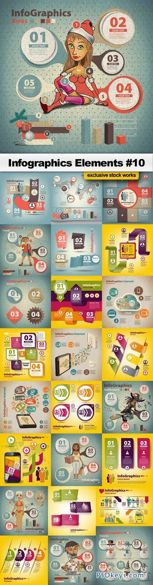 Infographics Elements #10 - 25xEPS