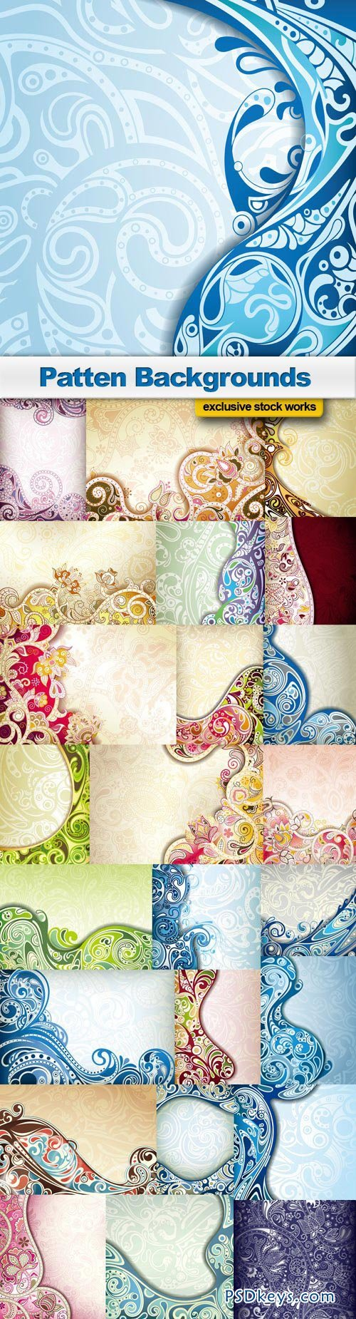 Patten Backgrounds - 25xEPS