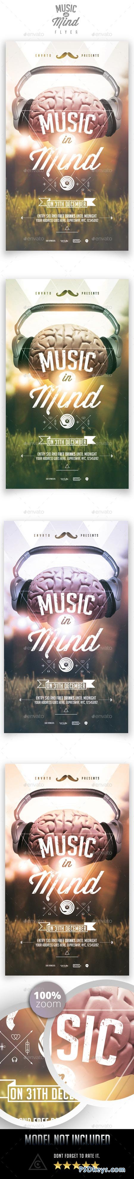 Music in Mind Flyer Template 9020350