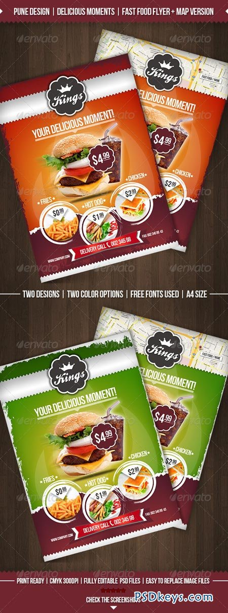 Delicious Moments Fast Food Flyer Template   Free Download