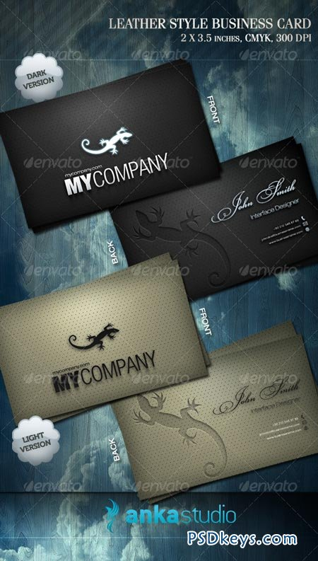Leather Style Business Card 69594