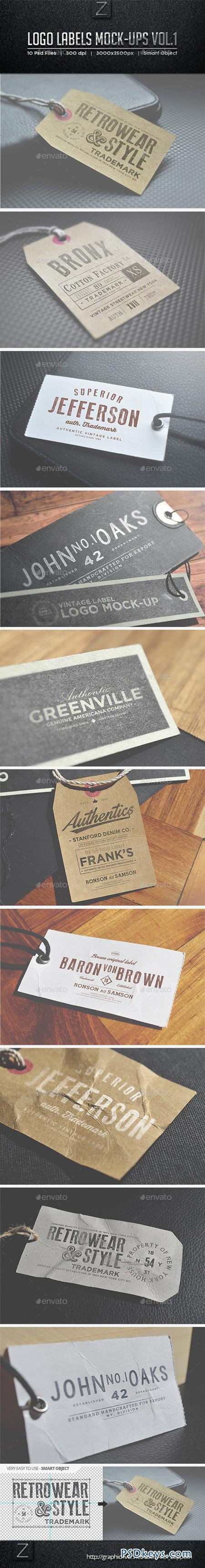 Logo Labels Mock-ups Vol.1 9059510