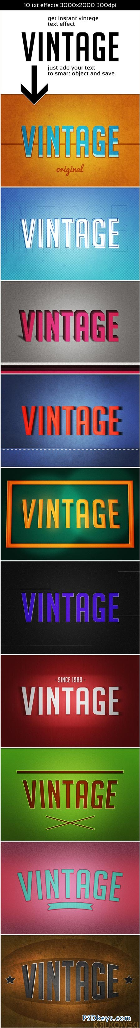 Vintage Instant Retro Text Effect 8980489