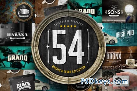 54 Badges & Logos Collection 81837