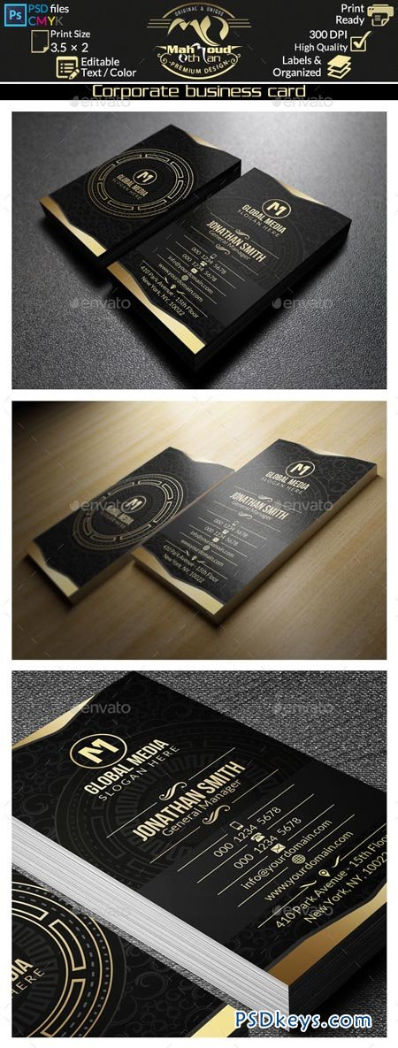 Gold Corporate Business Card 47 8981916