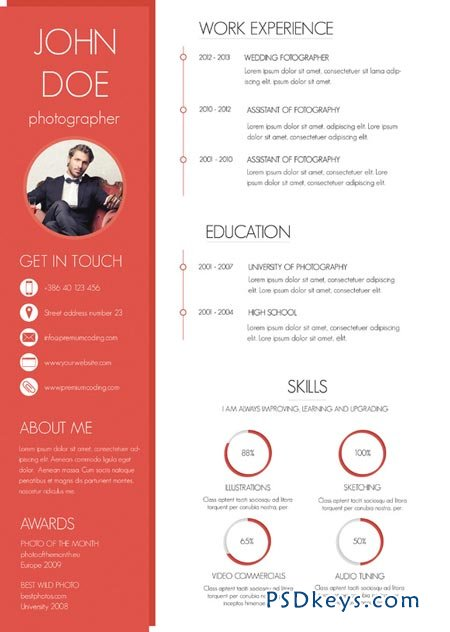 a colorful and modern resume 47549  u00bb free download photoshop vector stock image via torrent