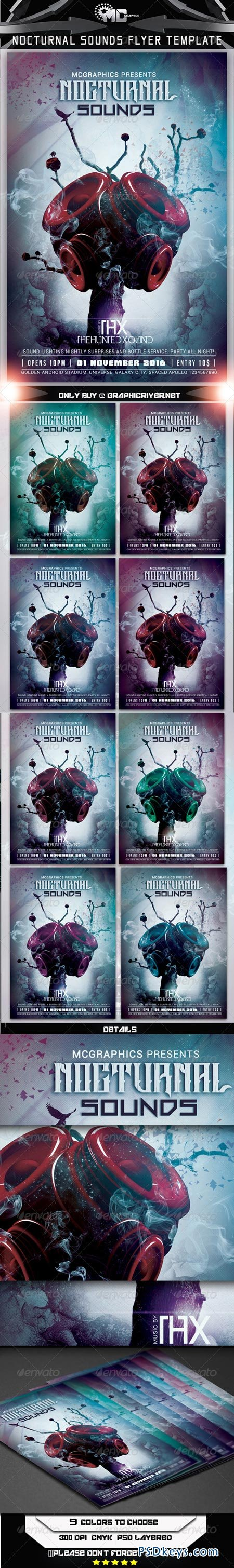Nocturnal Sounds Flyer Template 7910675