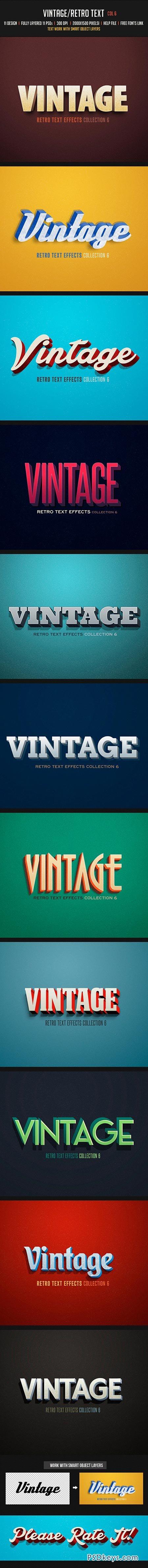 Vintage Retro Text Col 6 8143607