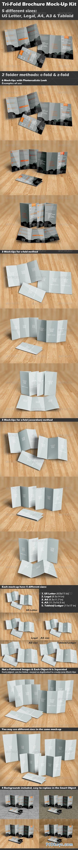Tri-Fold Brochure Mock-Up Kit 8570082