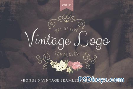 Vintage logo templates Vol 1 68417 » Free Download Photoshop Vector ...