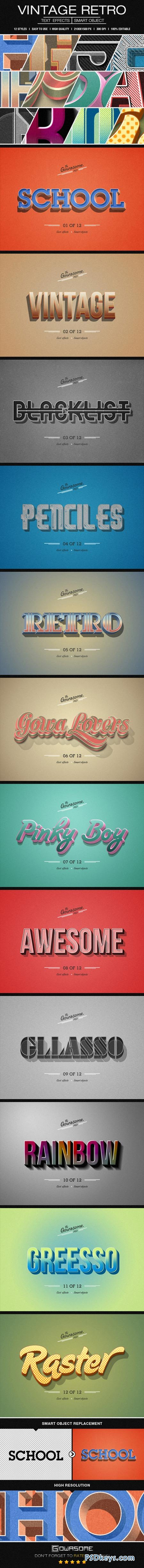 Retro Vintage Text Effects 8809603