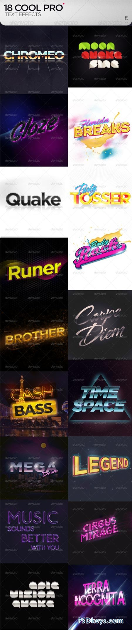18 Cool PRO Text Effects + .PSD 8111597