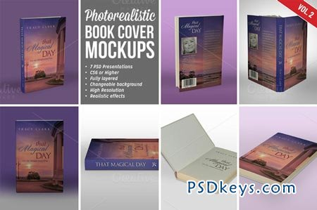 Photorealistic Book Cover Mockups 02 86918
