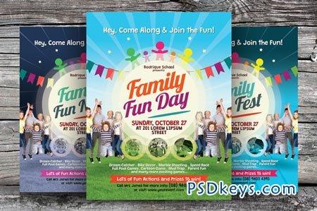 family fun night flyer template