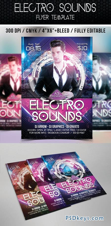 Electro Sounds Flyer Template 8998646