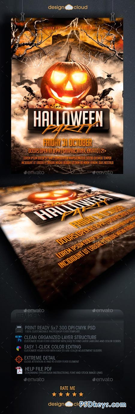 Halloween Party Flyer Template 8915370